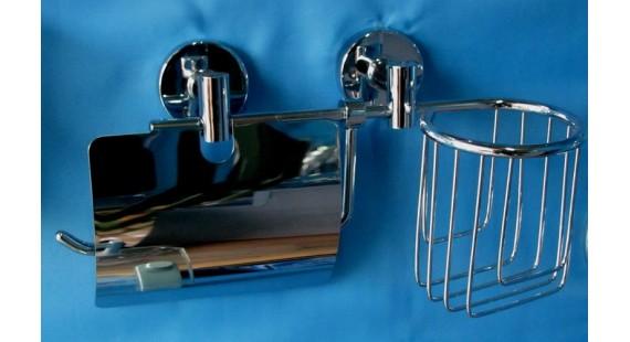 Держатель туалетной бумаги 2 в 1 Aqua Line A&B photo1