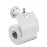 Держатель туалетной бумаги Badico 6951 Белый-золото