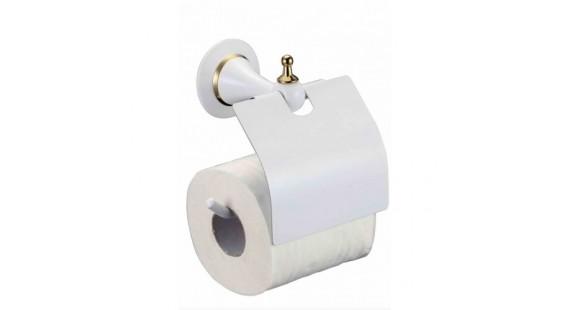 Держатель туалетной бумаги Badico 6951 Белый-золото photo1