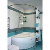 Карниз полукруглый 130х85см для ассиметричной ванны Steel