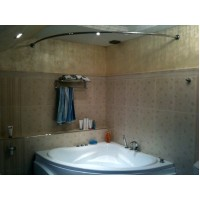 Карниз полукруглый 120х120см для угловой ванны Steel