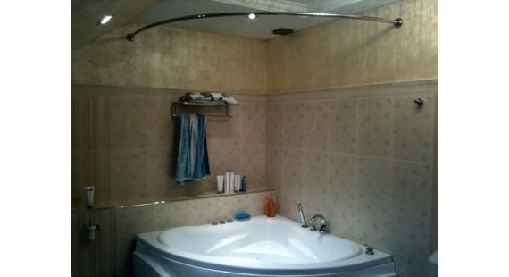 Карниз полукруглый 160х160см для угловой ванны Steel photo1