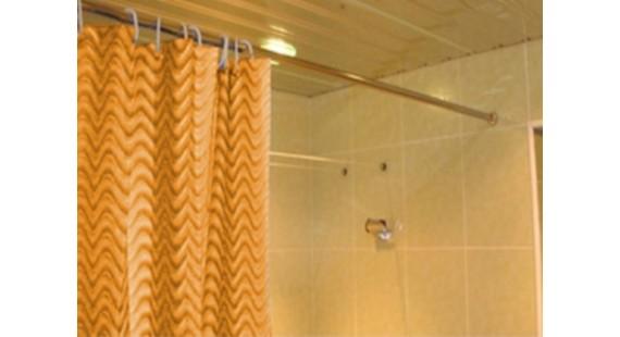 Карниз прямой для ванны 120 см Steel photo1