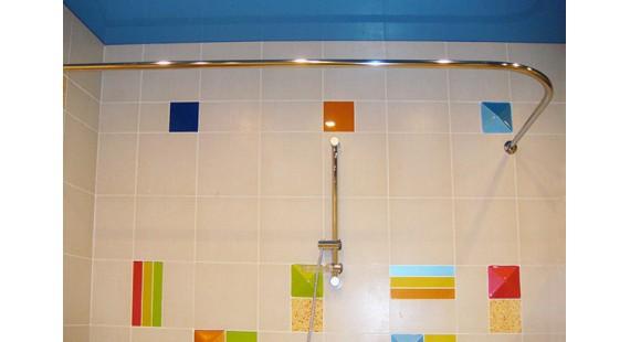Карниз угловой 100х70см для прямоугольной ванны Steel photo1
