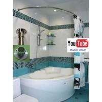 Карниз полукруглый 130х85см для ассиметричной ванны Steel Premium