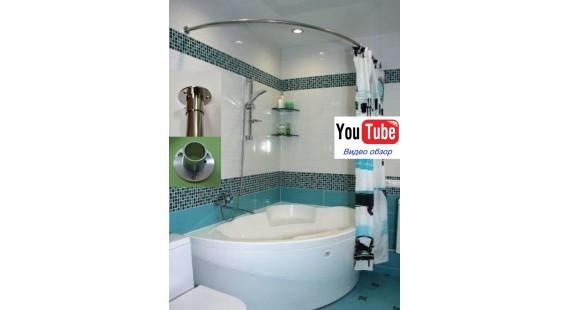 Карниз полукруглый 170х110см для ассиметричной ванны Steel Premium photo1