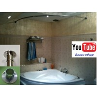 Карниз полукруглый 120х120см для угловой ванны Steel Premium
