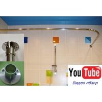 Карниз угловой 140х70см для прямоугольной ванны Steel Premium