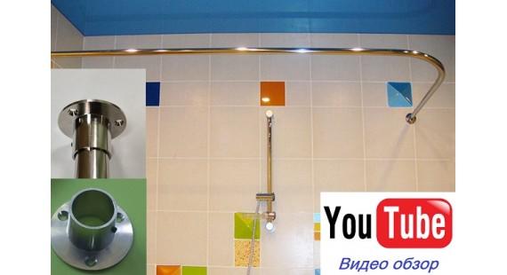 Карниз угловой 170х70см для прямоугольной ванны Steel Premium photo1