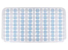 Коврик для ванной комнаты Trento Square прозрачный/синий 35899