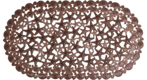 Коврик для ванной комнаты Arino морская звезда коричневый 36712 photo1