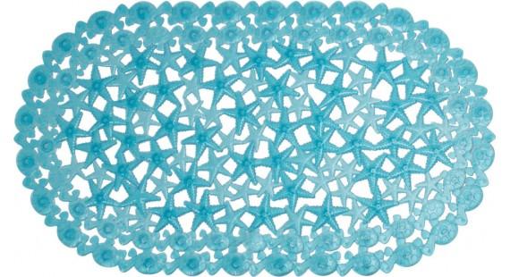 Коврик для ванной комнаты Arino морская звезда голубой 36713