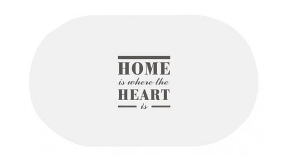 Коврик для ванной комнаты Trento Home Heart белый 46405 photo1
