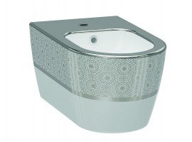 Биде подвесное IDEVIT Alfa 3106-2605-1201 серебро