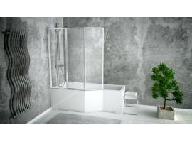 Душевая штора на ванну 130х140см Besco PMD Ambition Premium - 3