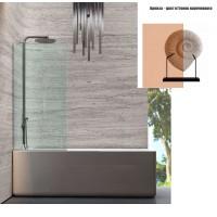 Душевая штора на ванну 100х150 см Andora Atrium Bronze