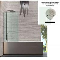Душевая штора на ванну 100х150 см Andora Atrium Clear