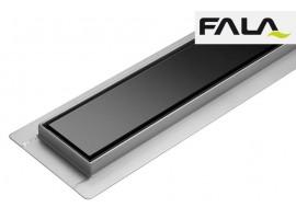 Душевой канал 600 мм трап сливной с сухим затвором Fala BLACK GLASS 75386