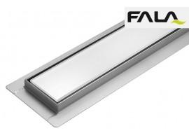 Душевой канал 600 мм трап сливной с сухим затвором Fala WHITE GLASS 75381
