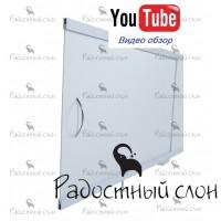 Экран под ванну 105х50 см Радостный слон Premium Белый