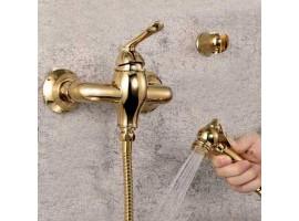 Смеситель для биде с гигиеническим душем Art Design Deco 022 Золото