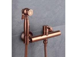 Смеситель для биде с гигиеническим душем Art Design 023 Медь