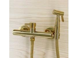 Смеситель для биде с гигиеническим душем Art Design 023 Золото