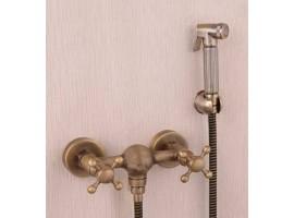 Смеситель для биде с гигиеническим душем Art Design Deco 6133-2 Бронза