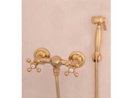 Смеситель для биде с гигиеническим душем Art Design Deco 6133-2 Золото