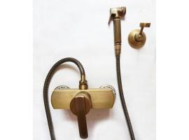 Смеситель для биде с гигиеническим душем Art Design Deco D25-2 Бронза