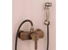 Смеситель для биде с гигиеническим душем Art Design Deco Simple D25-2 Бронза