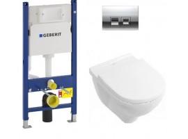 Инсталляция Geberit Duofix 458.126.00.1 комплект с унитазом Villeroy & Boch O.Novo 5660HR0+SoftClose+115.135.21.1