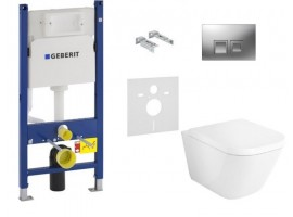 Инсталляция Geberit Duofix 458.126.00.1 комплект с унитазом Roca Gap CleanRim A34H47C000+SoftClose+115.135.21
