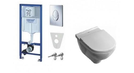 Инсталляция Grohe Rapid SL 38721001 комплект с унитазом Villeroy & Boch Onovo 5660H10+SoftClose photo1