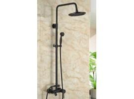 Душевая колонна со смесителем для ванны Art Design 80400 Черная