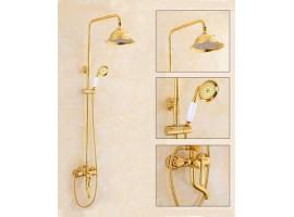 Душевая колонна со смесителем для ванны Art Design A1 Золото
