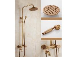 Душевая колонна со смесителем для ванны Art Design D26-01 DECO SIMPLE Бронза