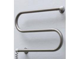 Полотенцесушитель электрический Теплый мир Змейка Плюс 380х485 мм серебро