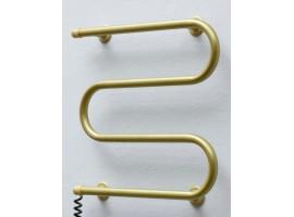 Полотенцесушитель электрический Теплый мир Змейка 535х505 мм золото