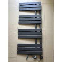 Дизайнерский электрический полотенцесушитель Antibes 12 500х1130 серый матовый