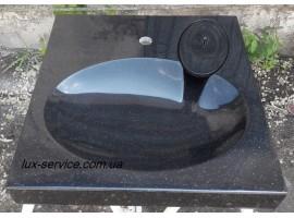 Раковина над стиральной машиной Black 60х60см Liquid Stone
