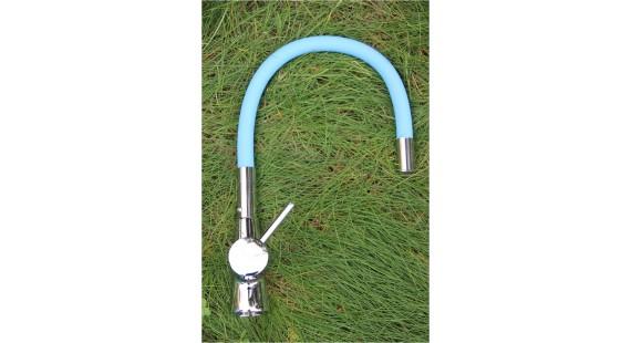 Смеситель для кухни с гибким изливом Germece 37 OP Blue photo1