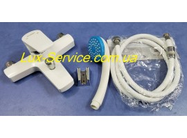 Смеситель пластиковый белый для ванны Plamix комплект