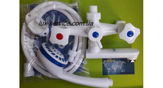 Пластиковый смеситель для ванны  Perfekt Con 10 комплект photo1