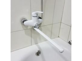 Смеситель белый для ванны Smack 8348 euro