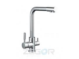 Смеситель для кухни 2 в 1 с выходом под фильтр Zegor SAF18-A092