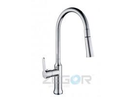 Смеситель для кухни с выдвижным изливом Zegor GUF4-A129