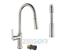 Смеситель для кухни с выдвижным изливом Zegor GUF4-A129H