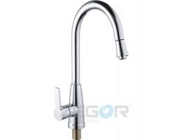 Смеситель для кухни с выдвижным изливом Zegor Z47-GAF4-A022