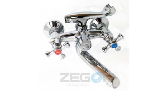 Смеситель для ванны с длинным гусаком Zegor DML3-A827 photo1